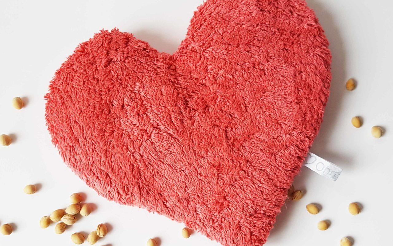 Geschenkidee zum Muttertag: Wärmekissen Herz mit Wunschnamen